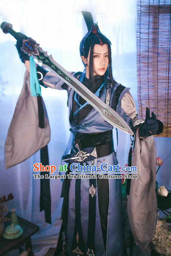 Chinese Traditional Cosplay Swordsman Royal Highness Costumes Ancient Nobility Childe Clothing for Men