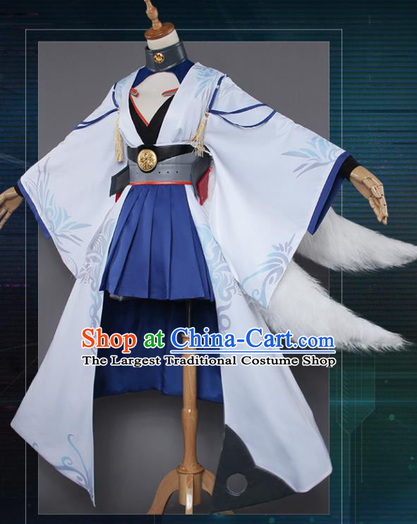 Chinese Traditional Cosplay Nine-Tailed Fox Fairy Costumes Ancient Swordswoman Clothing for Women