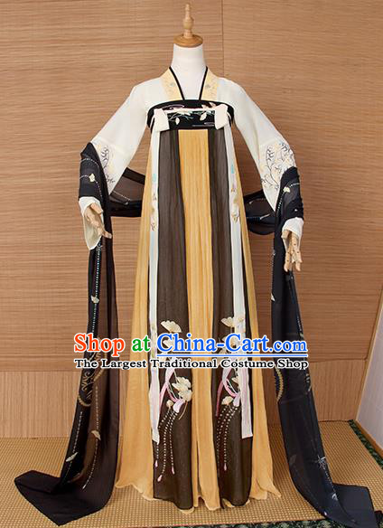 Top Grade Cosplay Princess Costumes Chinese Ancient Tang Dynasty Palace Lady Dress for Women