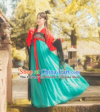Chinese Ancient Peri Hanfu Dress Tang Dynasty Palace Princess Costumes for Women