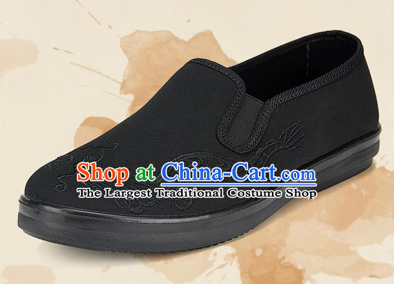 Chinese National Shoes Traditional Cloth Shoes Embroidery Dragon Shoes for Men