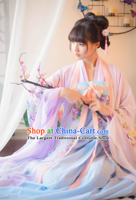 Chinese Ancient Hanfu Dress Tang Dynasty Imperial Consort Historical Costumes for Women