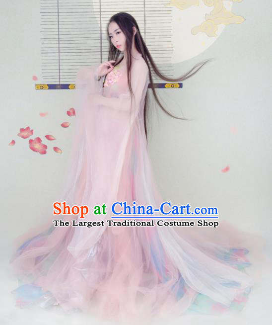 Chinese Ancient Cosplay Peri Hanfu Dress Tang Dynasty Imperial Consort Historical Costumes for Women