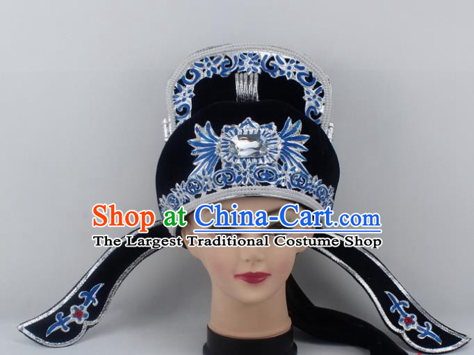 Chinese Traditional Peking Opera Niche Hats Ancient Scholar Black Hat for Men