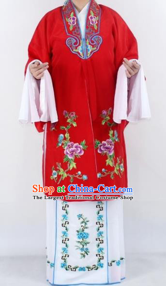 Chinese Traditional Peking Opera Actress Costumes Ancient Nobility Lady Red Cloak for Women