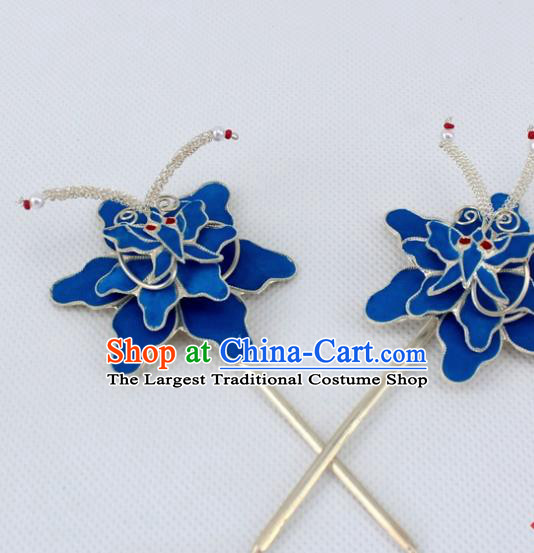 Chinese Traditional Peking Opera Diva Hair Accessories Ancient Flowers Hairpins for Women