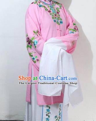 Chinese Traditional Peking Opera Actress Pink Costumes Ancient Nobility Lady Embroidered Dress for Women