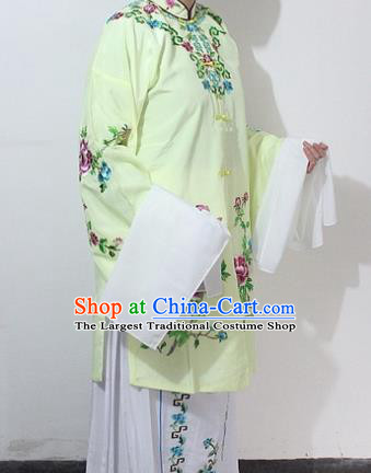 Chinese Traditional Peking Opera Actress Yellow Costumes Ancient Nobility Lady Embroidered Dress for Women