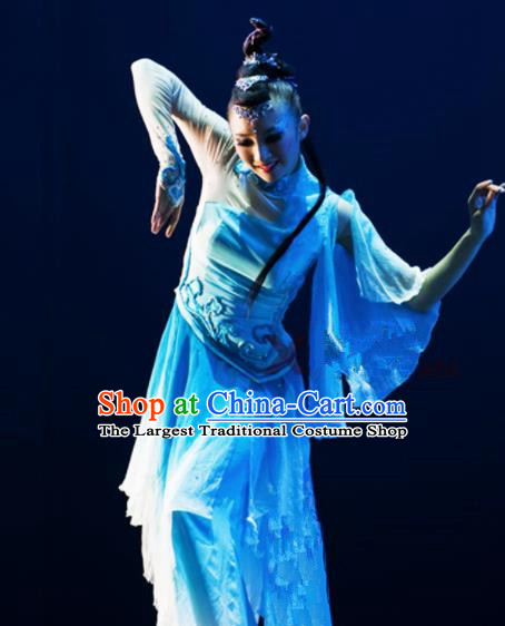 Chinese Traditional Classical Dance Costumes Yanko Dance Umbrella Dance Dress for Women