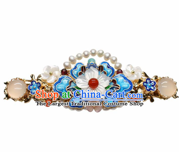 Chinese Traditional Hair Accessories Ancient Handmade Cloisonne Hair Claw for Women