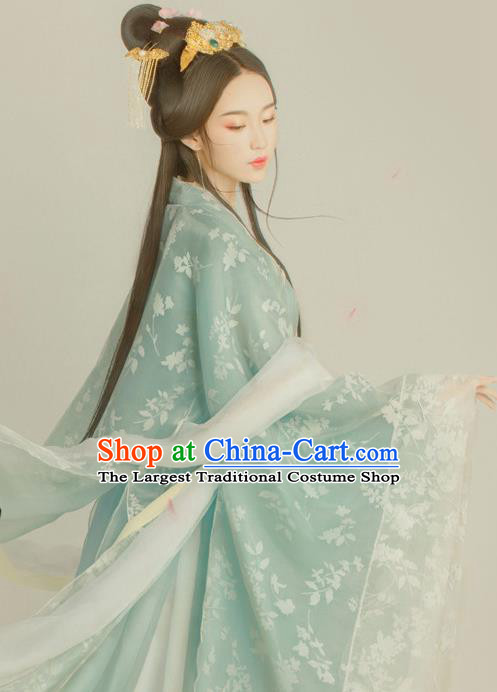 Traditional Chinese Ancient Tang Dynasty Princess Costumes Hanfu Dress for Women