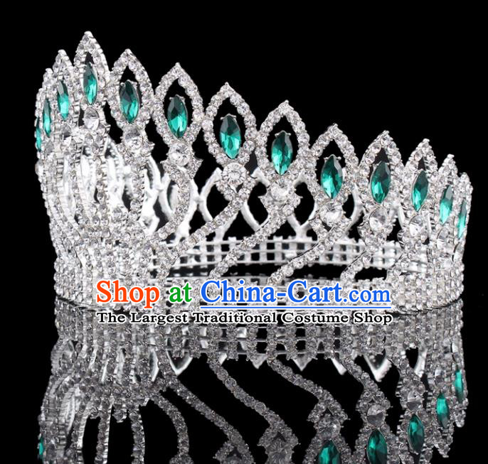 Baroque Wind Retro Hair Accessories Bride Argent Round Royal Crown for Women