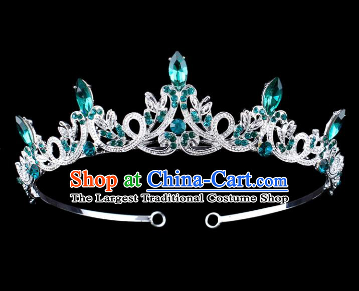 Top Grade Baroque Queen Hair Clasp Royal Crown Bride Retro Wedding Hair Accessories for Women