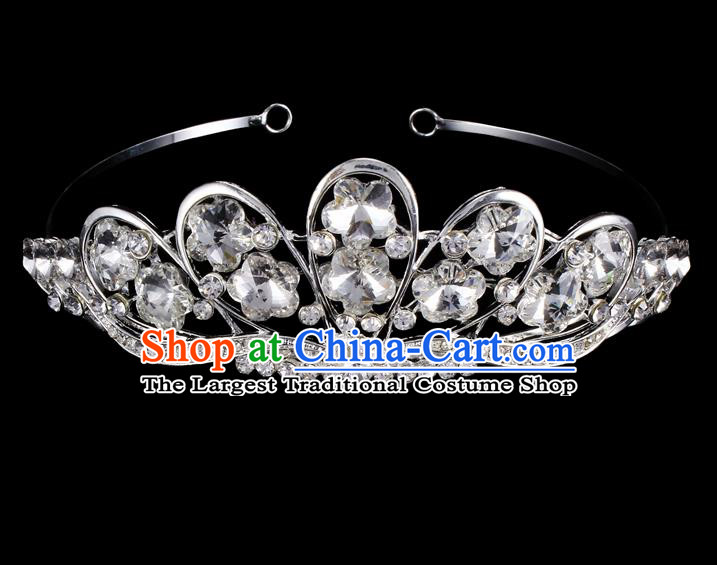 Handmade Top Grade Baroque Crystal Hair Clasp Royal Crown Bride Retro Wedding Hair Accessories for Women