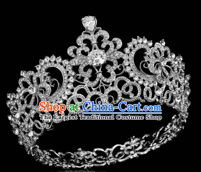 Top Grade Retro Crystal Royal Crown Baroque Queen Wedding Bride Hair Accessories for Women
