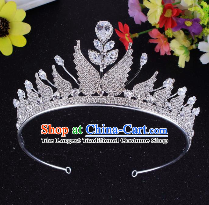 Top Grade Baroque Style Rhinestone Butterfly Royal Crown Bride Retro Wedding Hair Accessories for Women