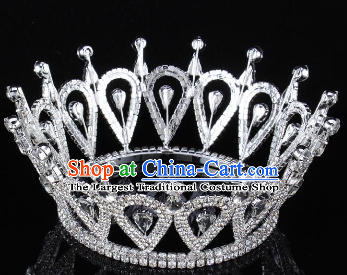 Handmade Top Grade Baroque Crystal Royal Crown Bride Retro Wedding Hair Accessories for Women