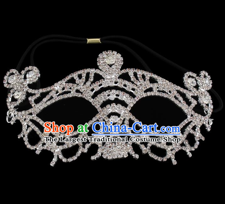 Handmade Halloween Accessories Zircon Face Mask Venice Fancy Ball Masks for Women