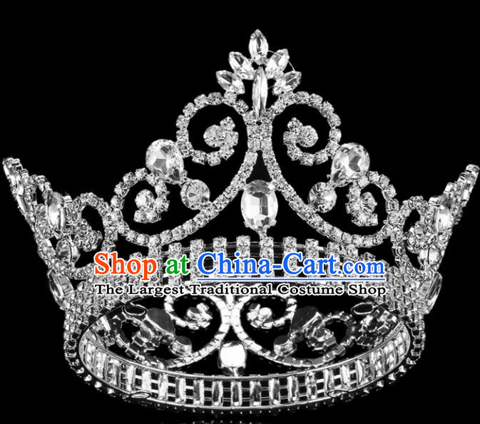 Top Grade Bride Wedding Hair Jewelry Accessories Baroque Court Princess Round Royal Crown for Women