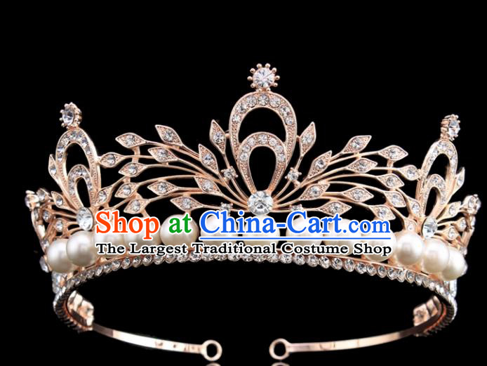 Handmade Bride Wedding Hair Jewelry Accessories Baroque Royal Crown for Women