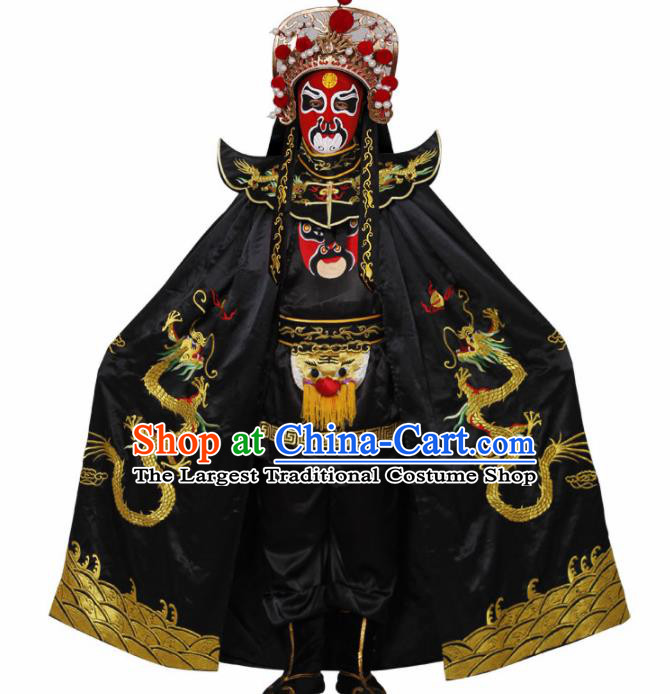 Traditional Chinese Beijing Opera Costume Sichuan Opera Changing Faces Embroidered Cloak for Men