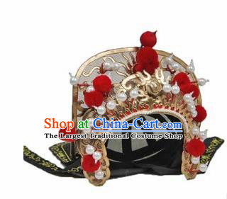 Chinese Traditional Beijing Opera Hats Sichuan Opera Changing Faces Embroidered Golden Helmet for Men