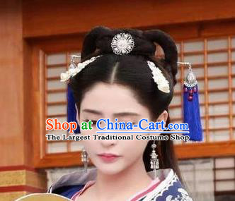 Chinese Ancient Han Dynasty Princess Hair Accessories Palace Hairpins Complete Set for Women