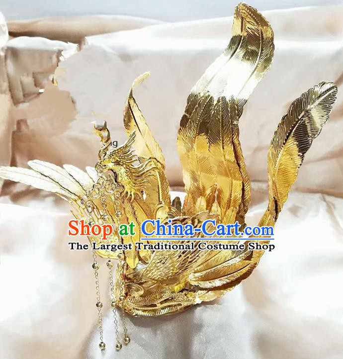 Chinese Ancient Ming Dynasty Princess Hair Accessories Bride Phoenix Hairpins for Women