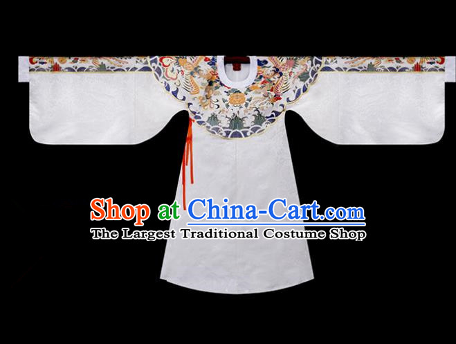 Traditional Chinese Ming Dynasty Nobility Lady Costumes Ancient Embroidered Hanfu Blouse for Women