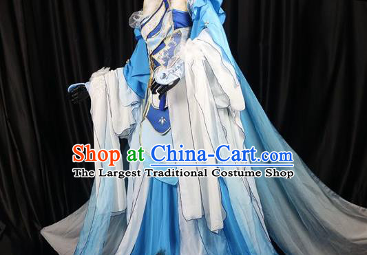 Traditional Chinese Cosplay Costumes Ancient Swordswoman Princess Embroidered Hanfu Dress for Women