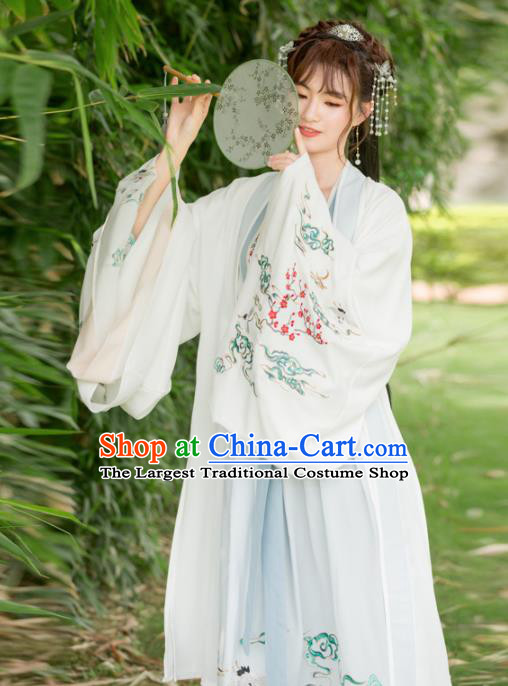 Traditional Chinese Tang Dynasty Princess Embroidered Costumes Ancient Peri Hanfu Dress for Rich Women