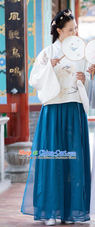Chinese Ancient Ming Dynasty Nobility Lady Costume Embroidered Hanfu Dress for Women