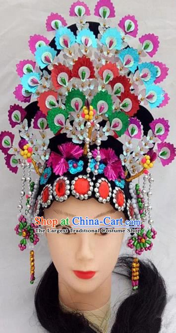 Chinese Traditional Folk Dance Hair Accessories Ancient Peking Opera Diva Headwear for Women