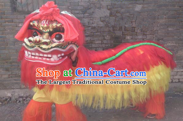 Chinese Traditional Lion Dance Costumes Spring Festival Lion Dance Props Lion Head for Adults