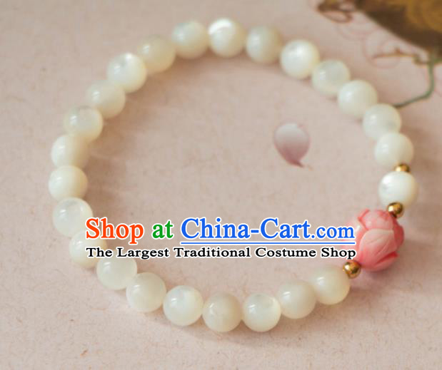Traditional Chinese Handmade Bangle Ancient Agate Bracelet Accessories for Women