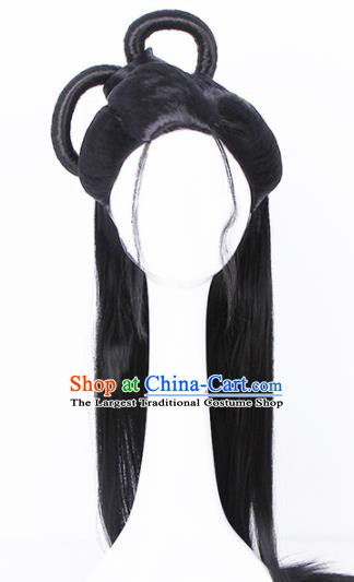 Traditional Chinese Handmade Hair Accessories Wigs Sheath Ancient Peri Chignon for Women