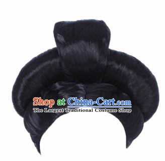 Traditional Chinese Handmade Wigs Sheath Hair Accessories Ancient Palace Lady Chignon for Women