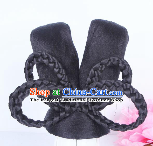 Traditional Chinese Palace Lady Handmade Wigs Sheath Hair
