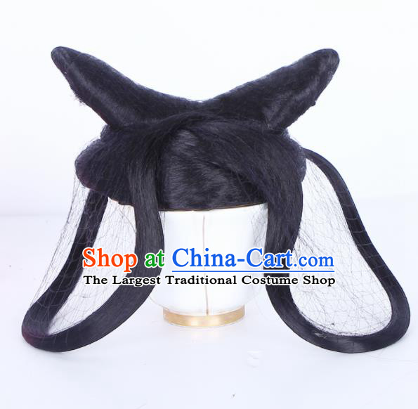 Traditional Chinese Ghost Handmade Wigs Sheath Hair Accessories Ancient Peri Chignon for Women