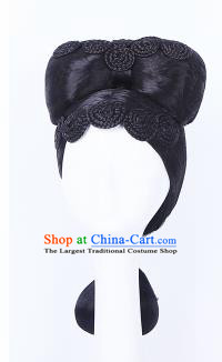 Traditional Chinese Drama Imperial Consort Wigs Sheath Ancient Swordswoman Handmade Chignon Hair Accessories for Women