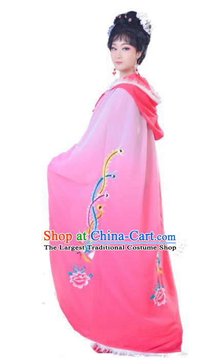 Chinese Traditional Peking Opera Actress Costumes Ancient Imperial Concubine Pink Cloak for Adults