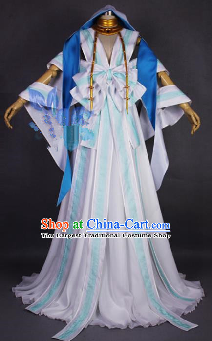 Asian Chinese Cosplay Fairy Costumes Ancient Swordswoman Dress Clothing for Women