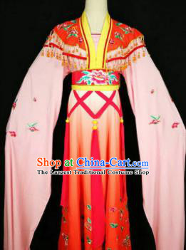 Chinese Traditional Peking Opera Costumes Ancient Nobility Lady Pink Dress for Adults