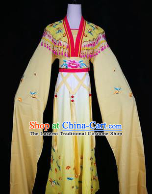 Chinese Traditional Peking Opera Costumes Ancient Nobility Lady Yellow Dress for Adults