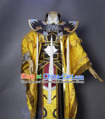 Asian Chinese Cosplay Royal Highness Costumes Ancient Swordsman Clothing for Men