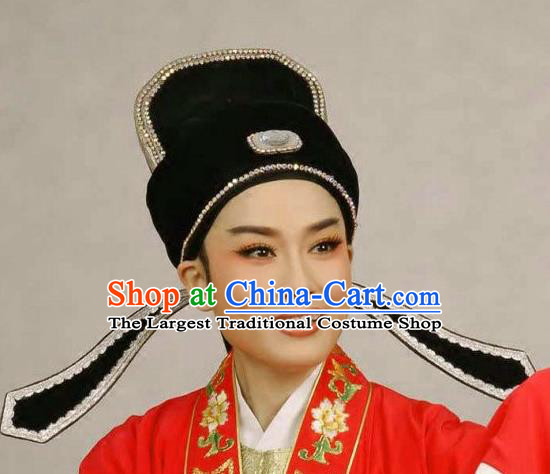 Chinese Traditional Peking Opera Number One Scholar Hat Ancient Bridegroom Headwear for Adults