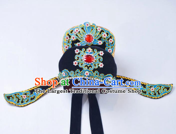 Chinese Traditional Peking Opera Scholar Hat Niche Headwear for Adults