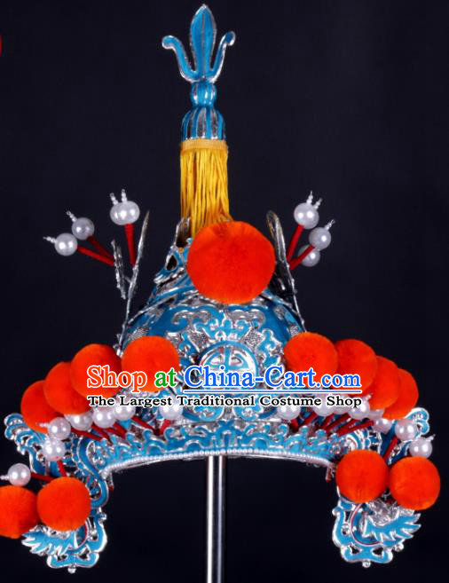 Chinese Traditional Peking Opera Takefu Hat Ancient General Helmet for Adults