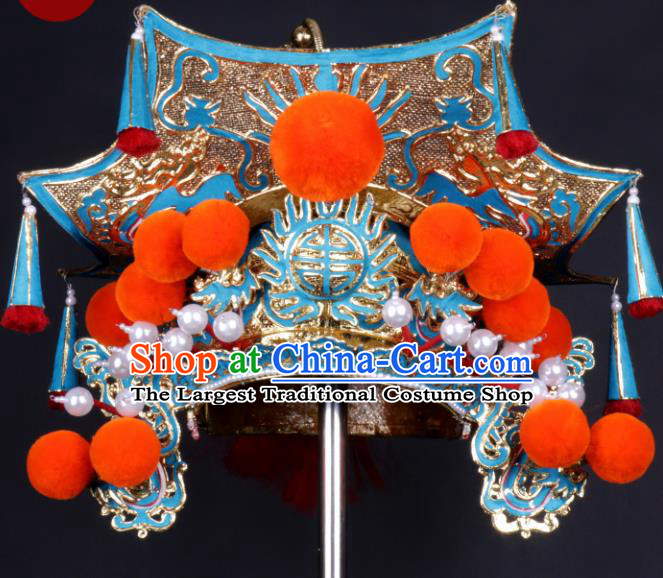 Chinese Traditional Peking Opera Prime Minister Hat Ancient General Helmet for Adults