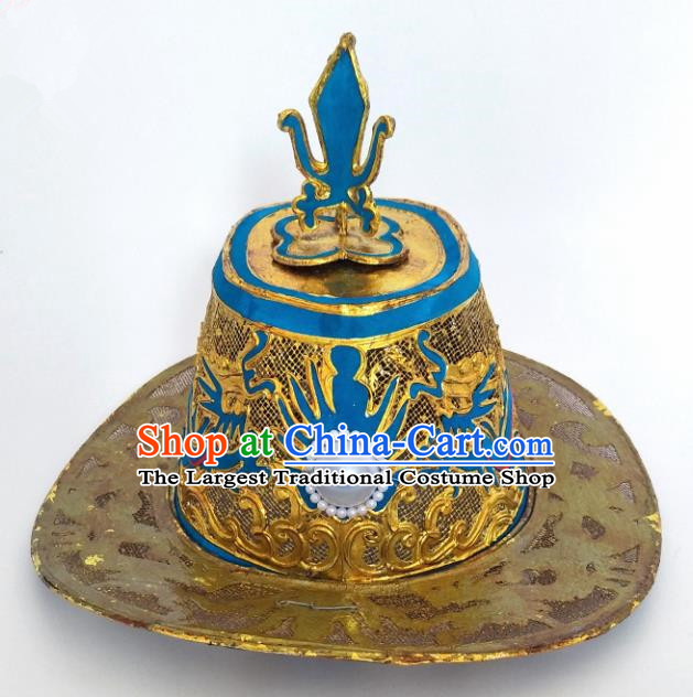 Chinese Traditional Peking Opera Warrior Hat Ancient General Helmet for Adults